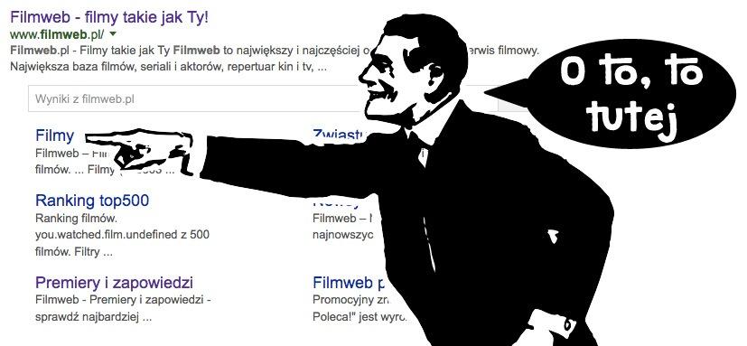 Co to są sitelinki w wynikach wyszukiwania Google?