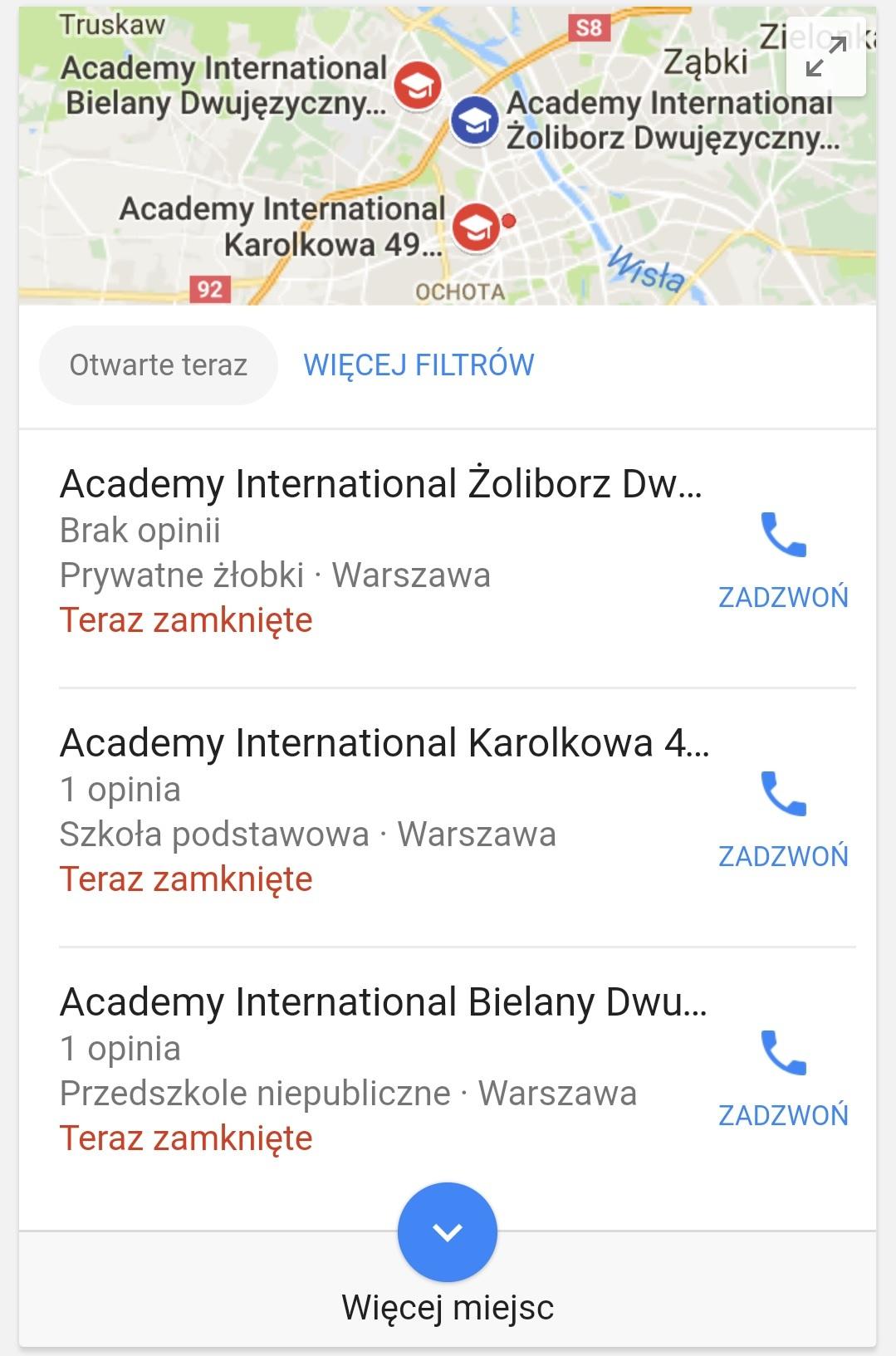 zapytanie o brand na mobile w lokalnych wynikach wyszukiwania