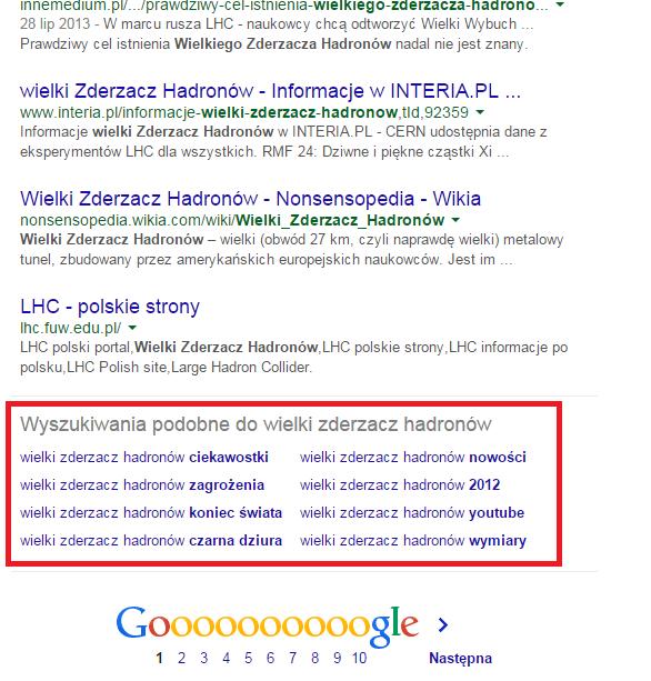 podobne wyniki wyszukiwania google