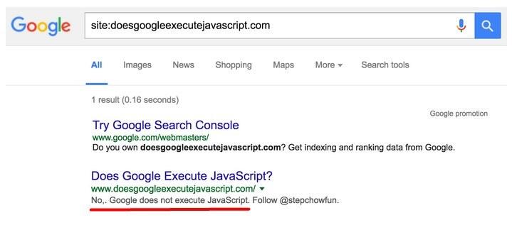 Google nie egzekwuje JavaScript